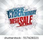 cyber monday mega sale design... | Shutterstock .eps vector #517628221