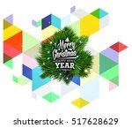christmas design and elements... | Shutterstock .eps vector #517628629