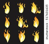 set of animation fire and... | Shutterstock .eps vector #517631635