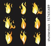 set of animation fire and... | Shutterstock .eps vector #517631689