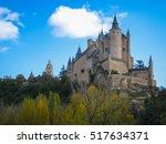 castle ship  alcazar  segovia ... | Shutterstock . vector #517634371