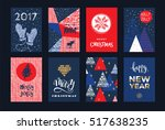 set of artistic creative merry... | Shutterstock .eps vector #517638235