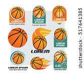 basketball and logo set | Shutterstock .eps vector #517641385