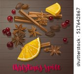 christmas winter spice.... | Shutterstock .eps vector #517642867