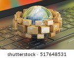 global shipping and delivery... | Shutterstock . vector #517648531