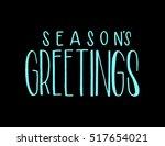 Seasons Greetings Hand Lettere...
