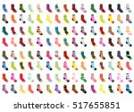 socks big set icons. collection ... | Shutterstock .eps vector #517655851