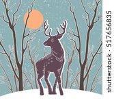 christmas illustration with... | Shutterstock .eps vector #517656835