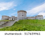 ruins of medieval old tower of...   Shutterstock . vector #517659961