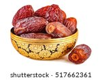 sweet dried dates in oriental... | Shutterstock . vector #517662361