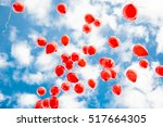 Red Balloons In The Blue Sky