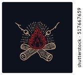 camp campfire logo vector   Shutterstock .eps vector #517667659