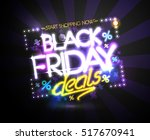 black friday deals  start... | Shutterstock .eps vector #517670941