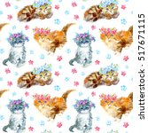 Seamless Pattern With Ginger...