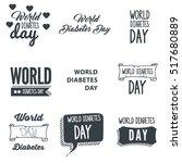 world diabetes day typography... | Shutterstock .eps vector #517680889