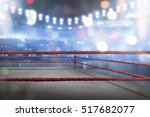 empty boxing ring with red... | Shutterstock . vector #517682077