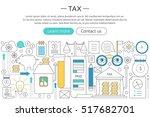 vector elegant thin flat line... | Shutterstock .eps vector #517682701