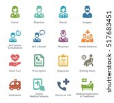colored medical services icons... | Shutterstock .eps vector #517683451