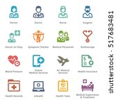 colored medical services icons... | Shutterstock .eps vector #517683481