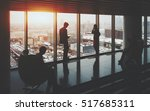 businessman and businesswoman... | Shutterstock . vector #517685311