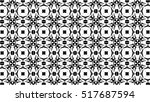 black and white ornament. p  | Shutterstock . vector #517687594