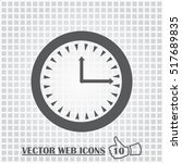 clock web icon. flat design...