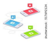 phone and push notifications.... | Shutterstock .eps vector #517692124