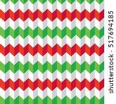 seamless christmas chevron... | Shutterstock .eps vector #517694185