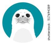 head of white seal | Shutterstock .eps vector #517694389