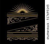 retro calligraphic designs....   Shutterstock .eps vector #517695145