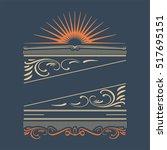 retro calligraphic designs....   Shutterstock .eps vector #517695151
