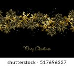 merry christmas happy new year... | Shutterstock .eps vector #517696327
