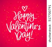 happy valentine's day. the... | Shutterstock .eps vector #517700791
