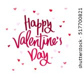 happy valentine's day. the... | Shutterstock .eps vector #517700821