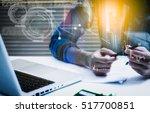 double exposure of... | Shutterstock . vector #517700851