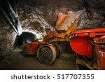 gold mining underground | Shutterstock . vector #517707355