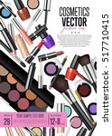 cosmetics product presentation... | Shutterstock .eps vector #517710415