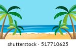 nature scene with trees on the... | Shutterstock .eps vector #517710625