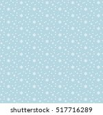 snowflakes seamless pattern....   Shutterstock .eps vector #517716289