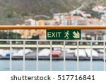 Attention Green Exit Sign With...