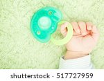 baby's cute little hand and... | Shutterstock . vector #517727959