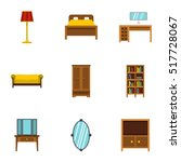 home furnishings icons set.... | Shutterstock .eps vector #517728067