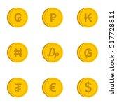 money icons set. flat... | Shutterstock .eps vector #517728811
