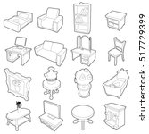 Different Furniture Icons Set....