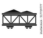 train cargo wagon icon. simple... | Shutterstock .eps vector #517729777