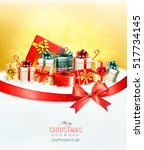 holiday christmas background... | Shutterstock .eps vector #517734145
