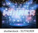 winner neon lettering live... | Shutterstock .eps vector #517741909