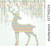 christmas background deer  ... | Shutterstock .eps vector #517743214