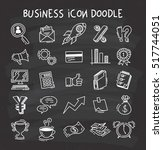 set of business icon in doodle... | Shutterstock .eps vector #517744051