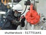 service engineer working at... | Shutterstock . vector #517751641